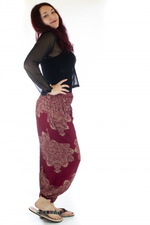 Pantaloni Jasmine cu print oriental - Model 122