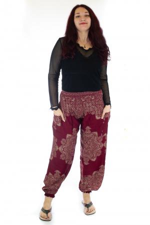 Pantaloni Jasmine cu print oriental - Model 120