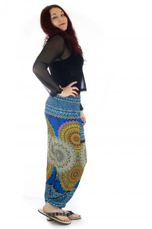 Pantaloni Jasmine cu print oriental - Model 42