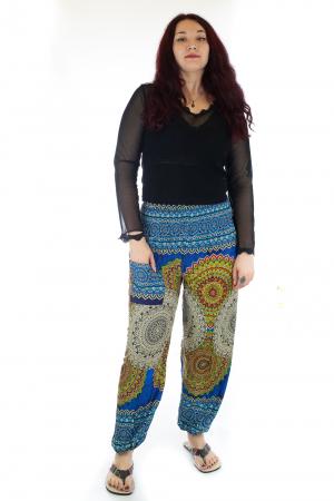 Pantaloni Jasmine cu print oriental - Model 40