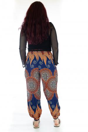 Pantaloni Jasmine cu print oriental - Model 63