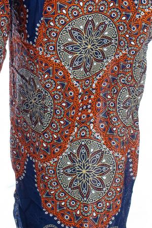 Pantaloni Jasmine cu print oriental - Model 61