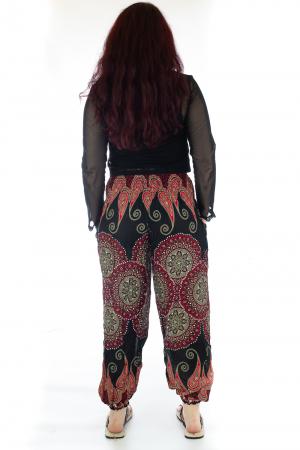 Pantaloni Jasmine cu print oriental - Model 83
