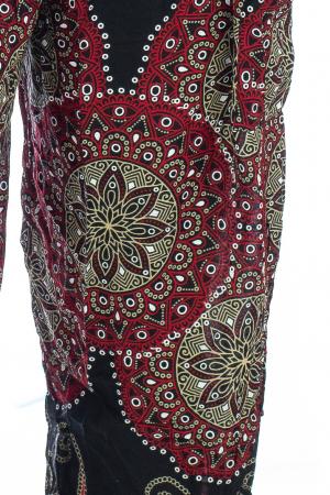 Pantaloni Jasmine cu print oriental - Model 81