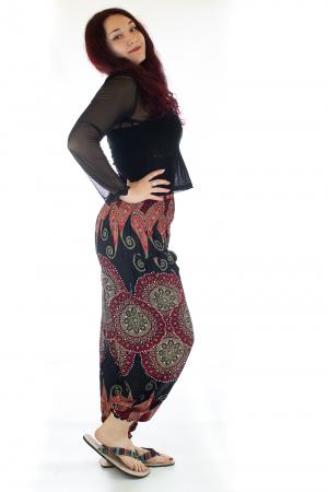 Pantaloni Jasmine cu print oriental - Model 82