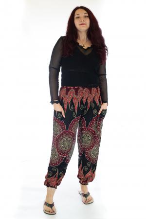 Pantaloni Jasmine cu print oriental - Model 80