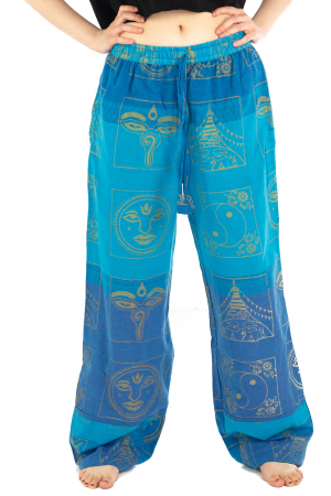 Pantaloni lejeri albastri - Heart of Hinduism [0]