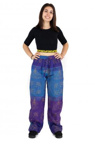 Pantaloni lejeri albastru cu mov - Heart of Hinduism [1]