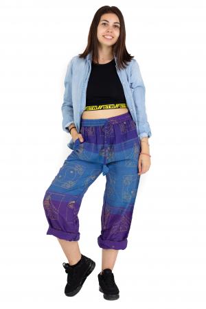 Pantaloni lejeri albastru cu mov - Heart of Hinduism [3]