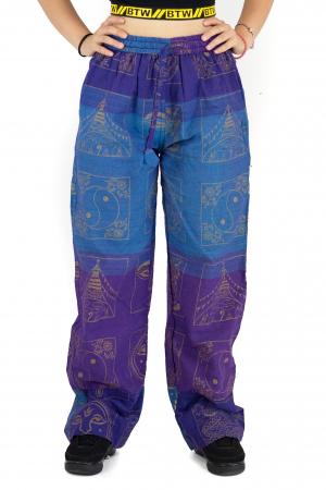 Pantaloni lejeri albastru cu mov - Heart of Hinduism [0]