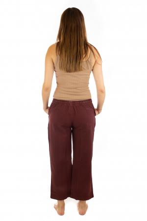 Pantaloni lejeri din bumbac - Visiniu3