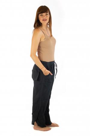 Pantaloni lejeri din bumbac - Negru [2]