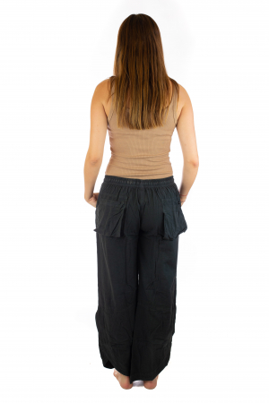 Pantaloni lejeri din bumbac - Negru [3]
