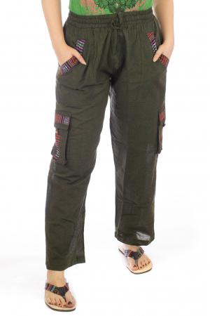 Pantaloni lejeri - Etno Verde2