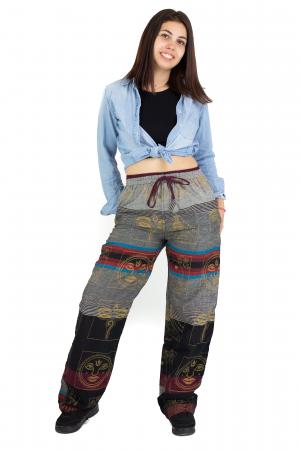 Pantaloni lejeri gri cu rosu  - Heart of Hinduism [4]