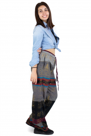 Pantaloni lejeri gri cu rosu  - Heart of Hinduism [1]
