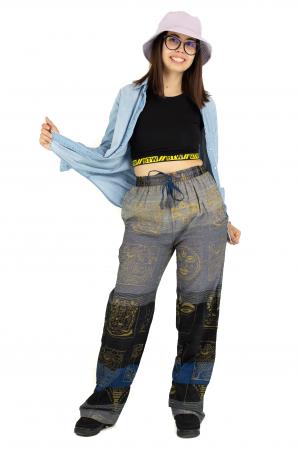 Pantaloni lejeri gri negru cu albastru - Heart of Hinduism [3]