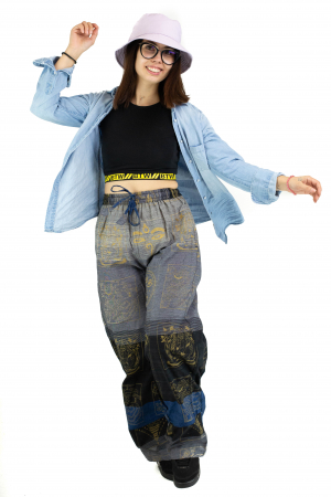 Pantaloni lejeri gri negru cu albastru - Heart of Hinduism [4]