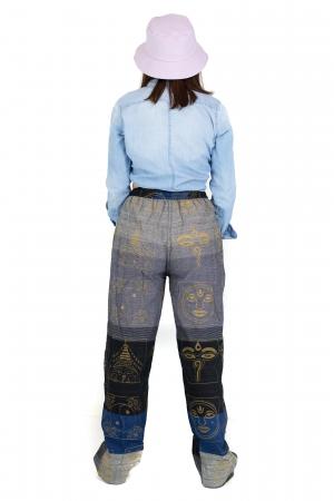 Pantaloni lejeri gri negru cu albastru - Heart of Hinduism [6]