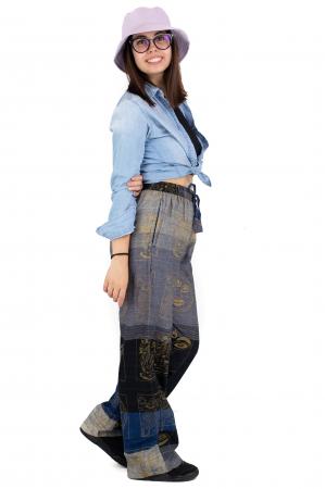 Pantaloni lejeri gri negru cu albastru - Heart of Hinduism [2]
