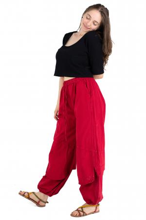 Pantaloni lejeri intr-o culoare - Rosu [2]