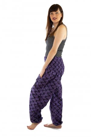 Pantaloni Lejeri - Mov cu Print2