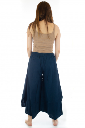 Pantaloni lejeri - Petal Tips Evazat - Albastru [4]