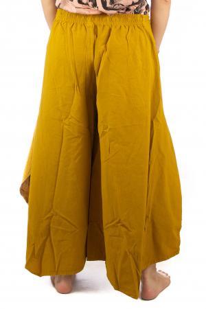 Pantaloni lejeri - Petal Tips Evazat - Galben7