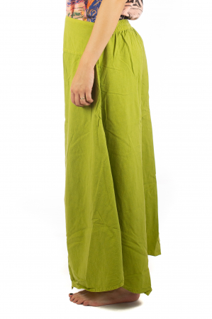 Pantaloni lejeri - Petal Tips Evazat - Lime [1]