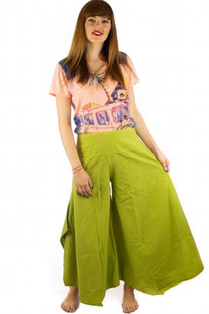 Pantaloni lejeri - Petal Tips Evazat - Lime [0]