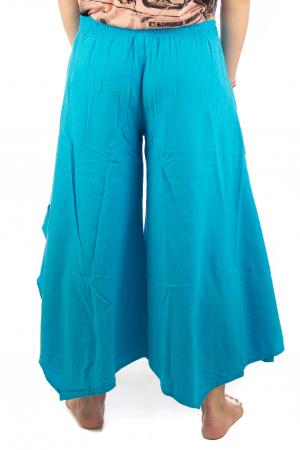 Pantaloni lejeri - Petal Tips Evazat - Albastru Deschis [6]