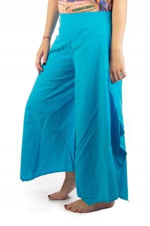 Pantaloni lejeri - Petal Tips Evazat - Albastru Deschis [3]