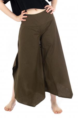 Pantaloni lejeri - Petal Tips Evazat - Turqoaz Inchis [0]