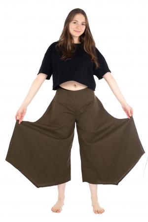 Pantaloni lejeri - Petal Tips Evazat - Turqoaz Inchis [1]