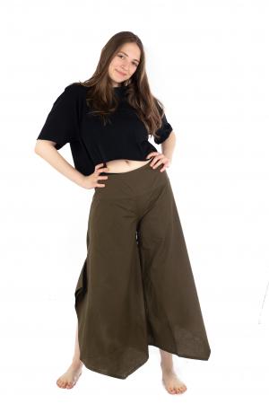 Pantaloni lejeri - Petal Tips Evazat - Turqoaz Inchis [2]