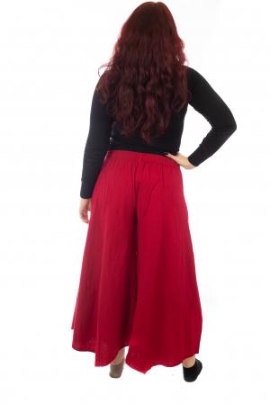 Pantaloni lejeri - Petal Tips Evazat - Rosu [2]