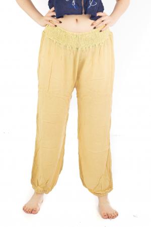 Pantaloni lejeri unicat - Light Yellow0