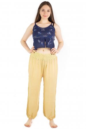 Pantaloni lejeri unicat - Light Yellow5