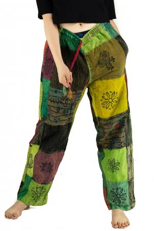 Pantaloni lejeri unicat marime M - Patches - Model 67 [0]