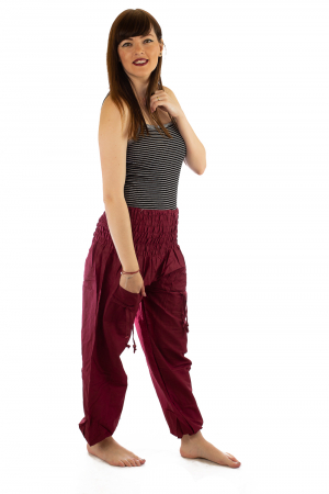 Pantaloni Lejeri - Bordo3