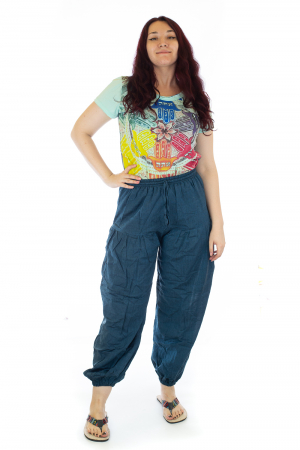 Pantaloni lejeri - Albastru inchis0