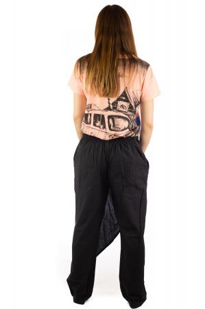 Pantaloni tip fusta din bumbac - Negru SH-92 [3]