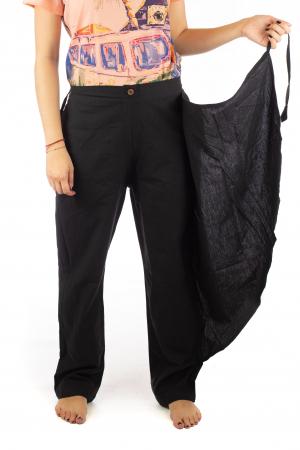 Pantaloni tip fusta din bumbac - Negru SH-92 [6]