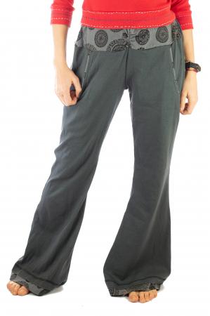 Pantaloni gri - Mandala gri1