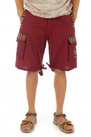 Pantaloni scurti de barbati model etno - Visiniu [0]