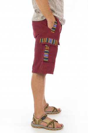 Pantaloni scurti de barbati model etno - Visiniu [1]