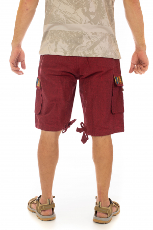 Pantaloni scurti de barbati model etno - Visiniu [3]