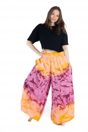 Pantaloni Tie-Dye - Portocaliu [1]
