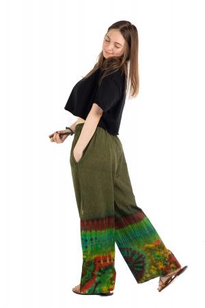 Pantaloni verzi Tie-Dye - Multicolor [2]