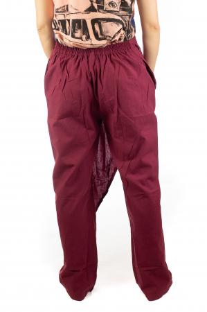 Pantaloni tip fusta din bumbac - Visiniu SH-926